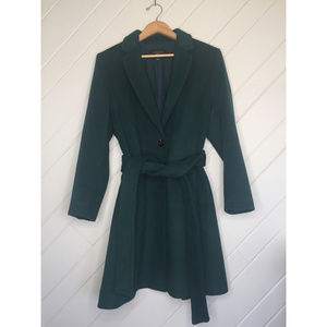 Ann Taylor Forest Green Like New Coat Large Petite